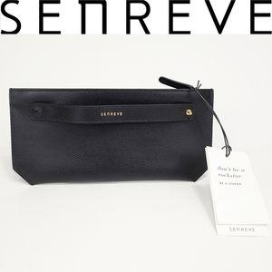 Senreve Bracelet Pouch Bag Leather Microsuede NWT